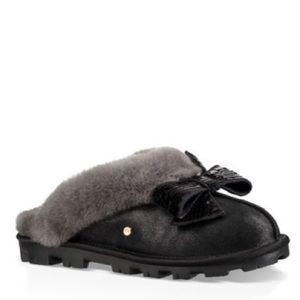 UGG coquette Genuine Shearling Sequin Bow Slipper